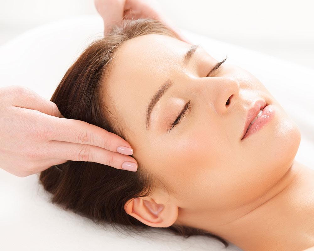 massaggio alle tempie